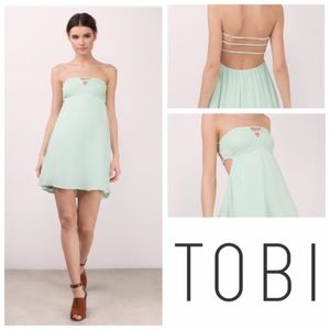 TOBI SUNNY SHORES MINT DAY DRESS green size s